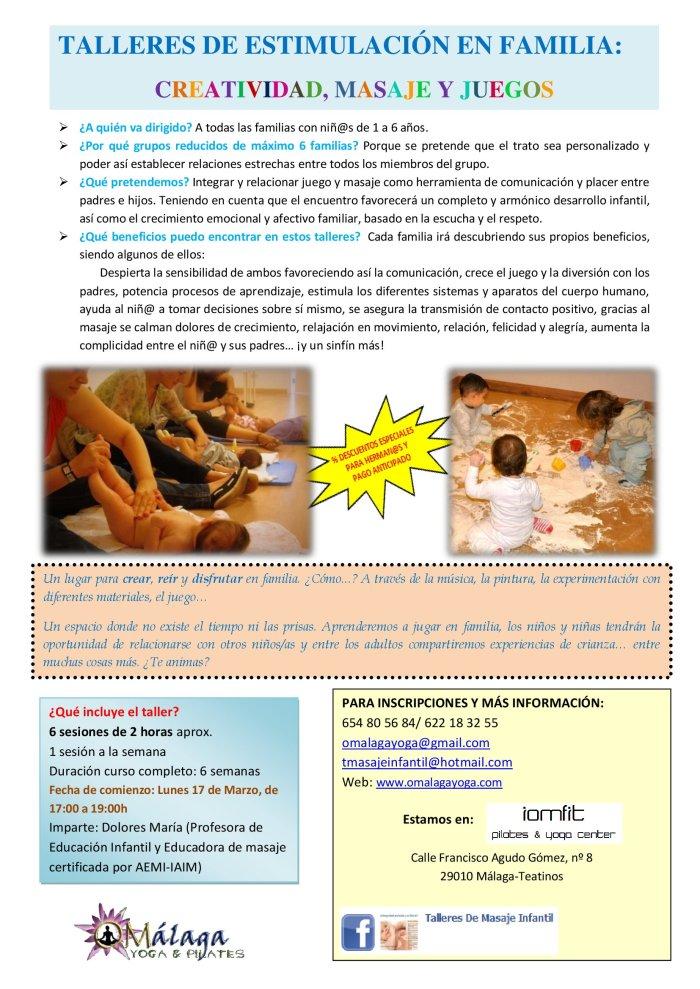 Taller de Estimulación Infantil: Creatividad, Masaje y Juegos - ¡Excelente ocasión para compartir y divertirse en familia!
